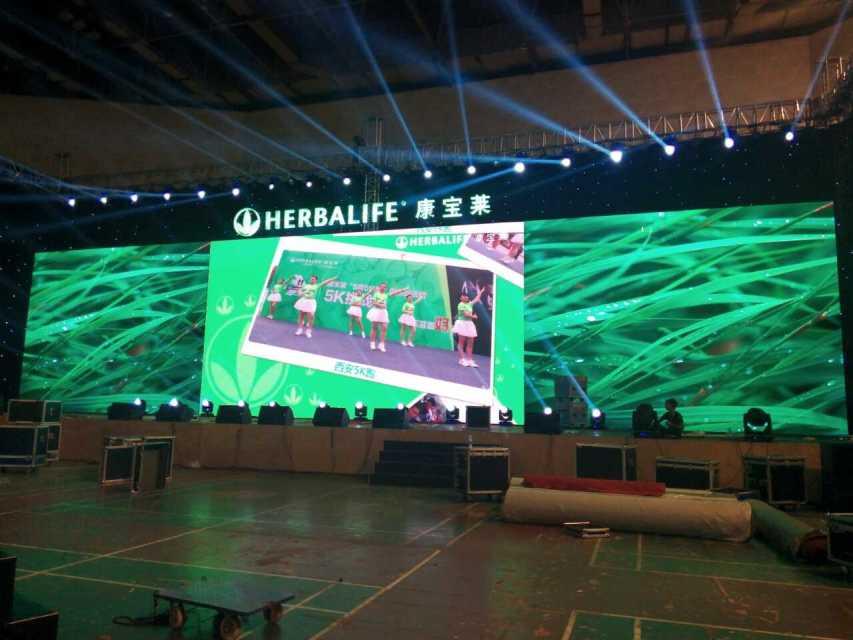 康宝莱新闻发布会租赁LED显示屏