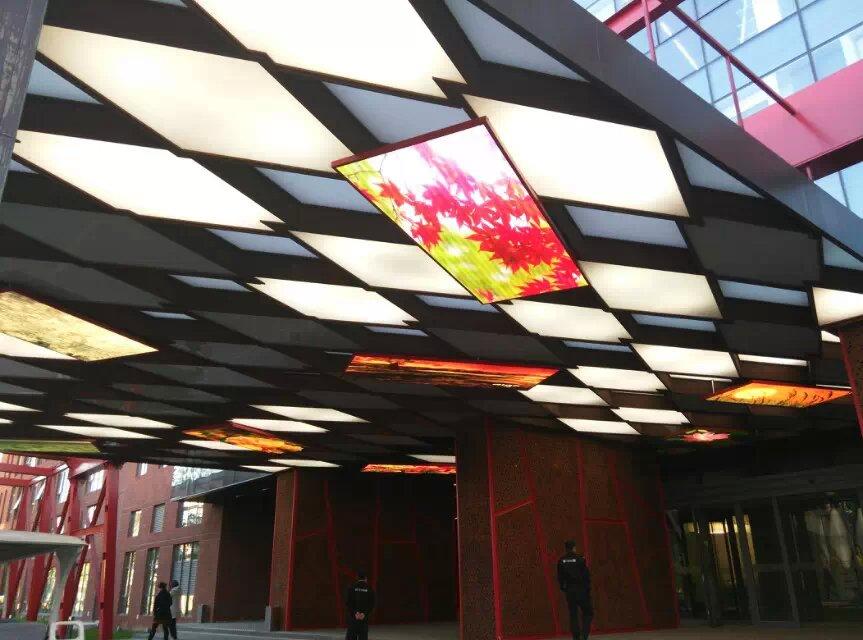 西安一饭店室内P4天幕全彩显示屏